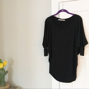 Stitch Fix 41 Hawthron Black Tunic 3/4 Sleeve Top